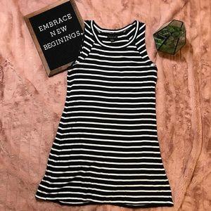 August Silk Stripe Dress - Very Flattering!